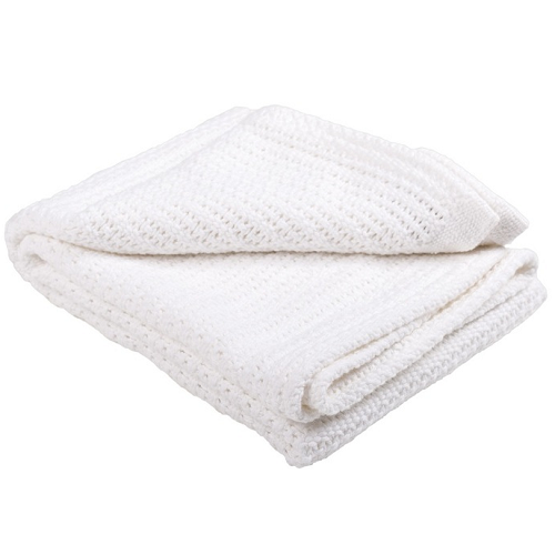 Abeille Cellular Baby Blanket (White Tail)