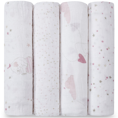 aden + anais Classic Muslin Swaddle (4pk) Lovely