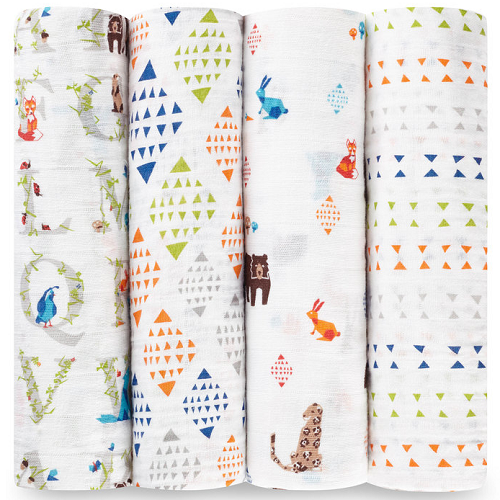 aden + anais Classic Muslin Swaddle (4pk) Paper Tales