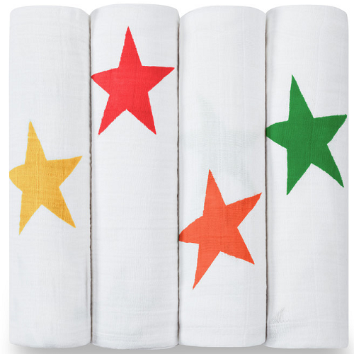 aden + anais Classic Muslin Swaddle (4pk) Super Star