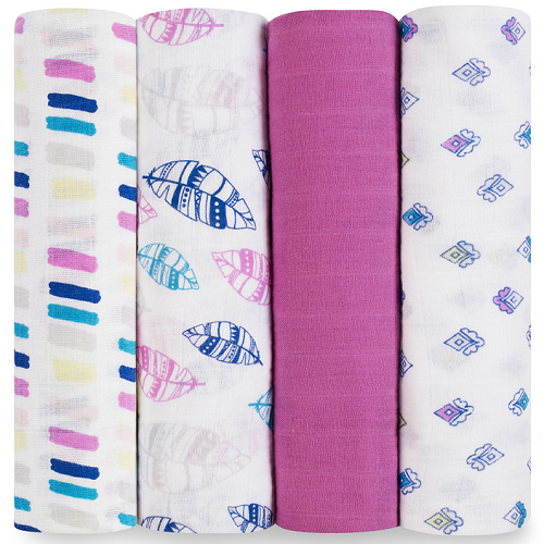 aden + anais Classic Muslin Swaddle (4pk) Wink