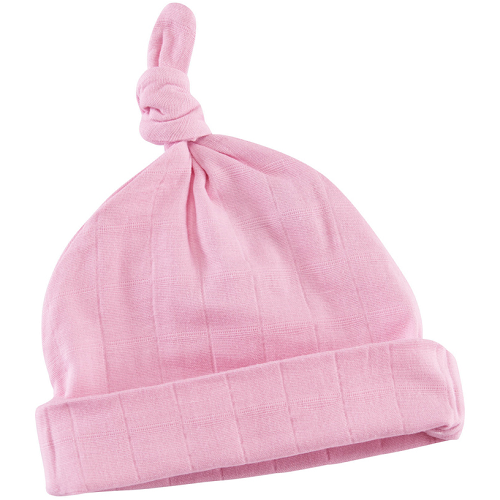 aden + anais Muslin Knotted Baby Hat (Pink Mist)