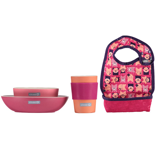 Close Pop-in Bamboo Fibre Feeding Set (Monster Edie)
