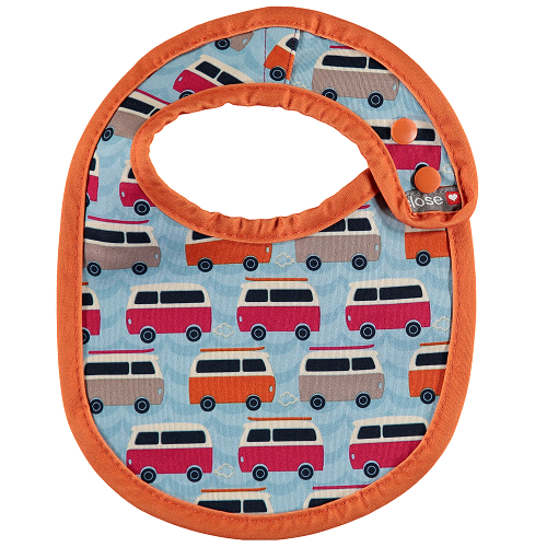 Close Pop-in Bib (Newborn) Stage 1 - Campervan Blue