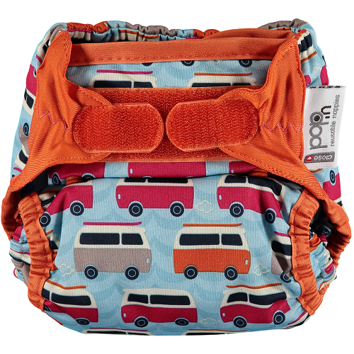 Close Pop-in New Gen V2 Single Nappy +bamboo (Campervan Blue)