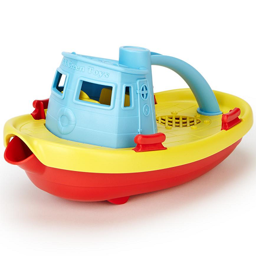 Green Toys Tugboat (Blue Top)