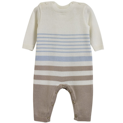 Natures Purest Natures Knits Stripe All in One (Blue)