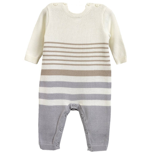 Natures Purest Natures Knits Stripe All in One (Grey)
