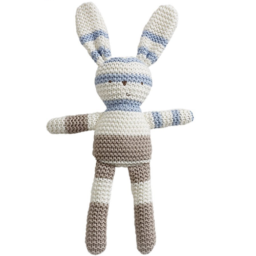Natures Purest Natures Knits Stripe Bunny (Bene Blue)