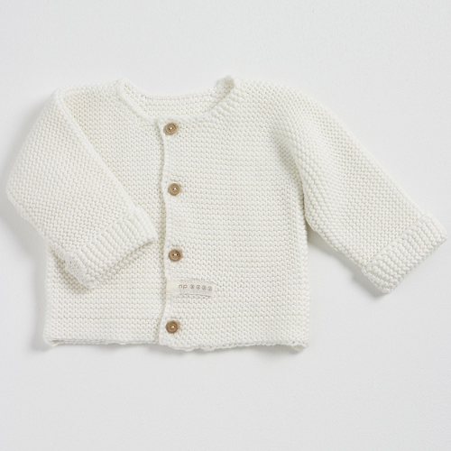Natures Purest Pom Pom Plain Knit Cardigan