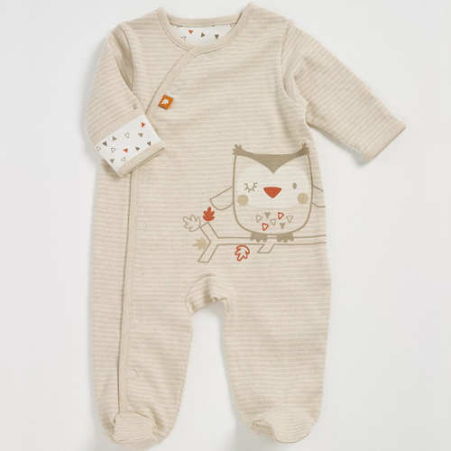 Natures Purest Woodland Friends Organic Sleepsuit (0-3 months)
