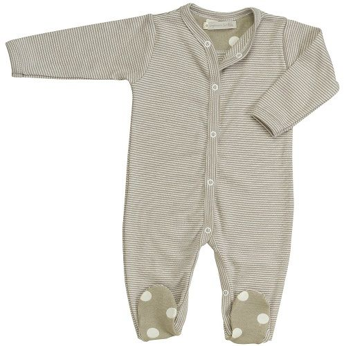 Pigeon Organics Stripes All-in-One Sleepsuit (Taupe)