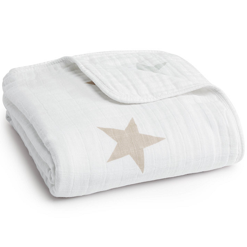aden + anais Classic Dream Blanket  (Super Star Scout - Fawn + Grey Stars)
