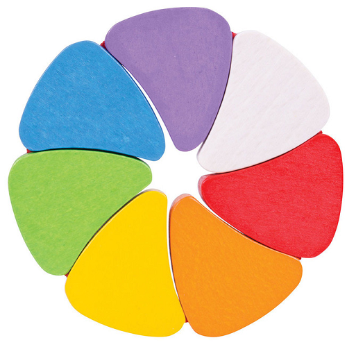 Bigjigs wooden rainbow petals for Rainbow petals