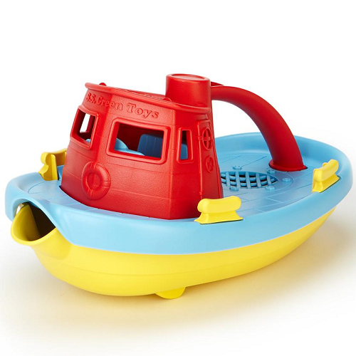 Green Toys Tugboat (Red Top)