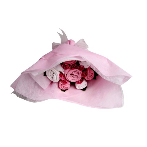 The Flower Stork Welcome Bouquet (Baby Girl Pink)