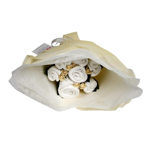 The Flower Stork Welcome Bouquet (Classic White)